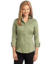 Red House RH69 Women 3/4-Sleeve Nailhead Non-Iron Button-Down Shirt at GotApparel