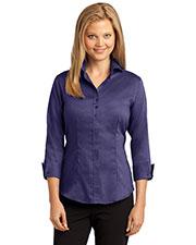 Red House RH69 Women 3/4-Sleeve Nailhead Non-Iron Button-Down Shirt at GotApparel