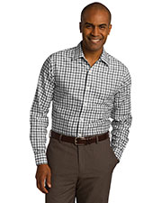 Red House RH74 Adult Tricolor Check Slim Fit Non-Iron Shirt at GotApparel