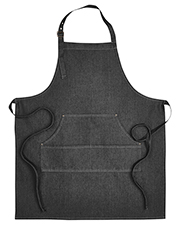 Artisan Collection by Reprime RP126 Unisex 8 oz Jeans Stitch Denim Bib Apron at GotApparel