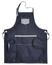 Artisan Collection by Reprime RP127 Unisex 8 oz Domain Contrast Denim Bib Apron at GotApparel