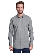 Artisan Collection by Reprime RP220 Men 3.7 oz Microcheck Gingham Long-Sleeve Cotton Shirt at GotApparel