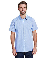Artisan Collection by Reprime RP221 Mens 3.7 oz Microcheck Gingham Short-Sleeve Cotton Shirt at GotApparel