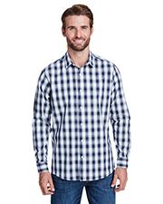 Artisan Collection by Reprime RP250 Men 3.7 oz Mulligan Check Long-Sleeve Cotton Shirt at GotApparel