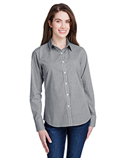 Artisan Collection by Reprime RP320 Ladies 3.7 oz Microcheck Gingham Long-Sleeve Cotton Shirt at GotApparel