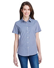 Artisan Collection by Reprime RP321 Ladies 3.7 oz Microcheck Gingham Short-Sleeve Cotton Shirt at GotApparel