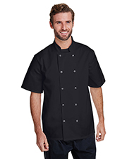 Artisan Collection by Reprime RP664 Unisex 5.8 oz Studded Front Short-Sleeve Chef's Jacket at GotApparel