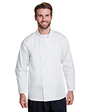 Artisan Collection by Reprime RP665 Unisex 5.8 oz Studded Front Long-Sleeve Chef's Jacket at GotApparel