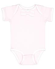 Rabbit Skins RS4407 infants Baby Rib Bow Tie Bodysuit at GotApparel