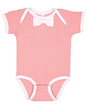 Rabbit Skins RS4407 infants Baby Rib Bow Tie Bodysuit at GotApparel