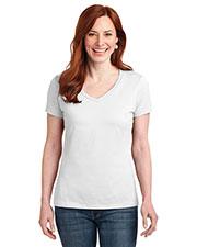 Hanes S04V Women 4.5 oz Nano-T®Cotton V-Neck T-Shirt at GotApparel