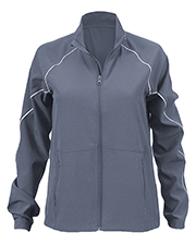 Soffe S1026VP Girls Juniors Game Time Warm Up Jacket at GotApparel