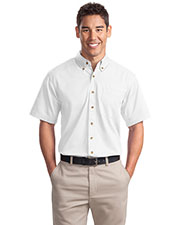 Port Authority S500T Men Short-Sleeve Twill Shirt at GotApparel