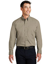 Port Authority S600T Men Long-Sleeve Twill Shirt at GotApparel