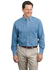 Port Authority S600 Adult Long-Sleeve Denim Shirt at GotApparel