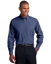 Port Authority TLS640 Men Tall Crosshatch Easy Care Shirt at GotApparel