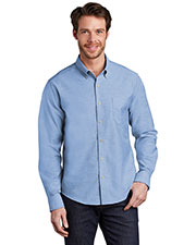 Port Authority S651 Men Untucked Fit SuperPro ™ Oxford Shirt at GotApparel