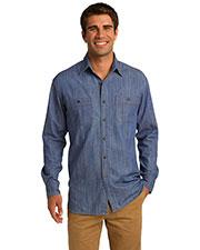 Port Authority S652 Men Patch Pocket Denim Shirt at GotApparel