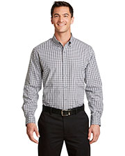 Port Authority S654 Men Long-Sleeve Gingham Easy Care Shirt at GotApparel