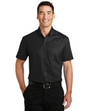 Port Authority S664 Men Short-Sleeve Superpro Twill Shirt at GotApparel