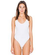 Custom Embroidered American Apparel SA8336W Women Cotton Spandex Tank Thong Bodysuit at GotApparel