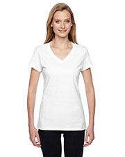 Fruit Of The Loom SFJVR Women 4.7 Oz. 100% Sofspun Cotton Jersey V-Neck T-Shirt at GotApparel