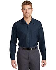 Red Kap  SP14LONG Men Long Size Long-Sleeve Industrial Work Shirt at GotApparel