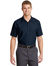 Red Kap  SP24LONG Men Long Size Short-Sleeve Industrial Work Shirt at GotApparel