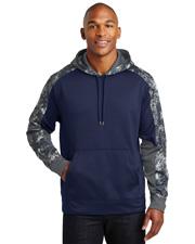 Sport-Tek® ST231 Men   Sport-Wick  Mineral Freeze Fleece Colorblock Hooded Pullover at GotApparel