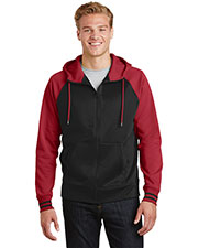Sport-Tek® ST236 Adult Varsity Fleece Full-Zip Hooded Jacket at GotApparel