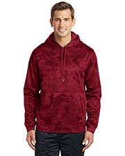 Sport-Tek® ST240 Men Sport-Wick Camohex Fleece Hooded Pullover at GotApparel
