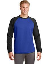 Sport-Tek® ST242 Adult Raglan Colorblock Fleece Crewneck at GotApparel