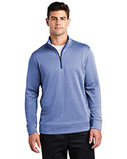 Sport-Tek ST263 Men PosiCharge Sport-Wick Heather Fleece 1/4-Zip Pullover at GotApparel