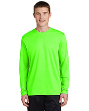 Sport-Tek® ST340LS Men PosiCharge® Racermesh Long-Sleeve Tee at GotApparel
