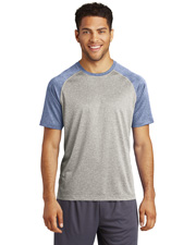 Sport-Tek® ST362 Men Heather-On-Heather Contender™ Tee .     at GotApparel