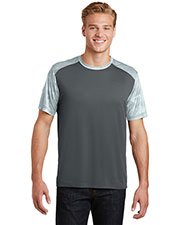 Sport-Tek® ST371 Adult Camohex Colorblock Tee at GotApparel