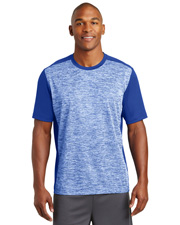 Sport-Tek® ST395 Men   PosiCharge®  Electric Heather Colorblock Tee at GotApparel