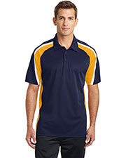 Sport-Tek® ST654 Men Tricolor Micro Pique Sportwick Polo at GotApparel