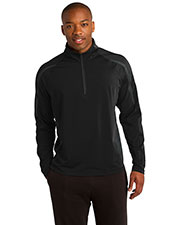 Sport-Tek® ST851 Men Sportwick Stretch 1/4-Zip Colorblock Pullover at GotApparel