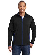 Sport-Tek® ST853 Men Stretch Contrast Full-Zip Jacket at GotApparel