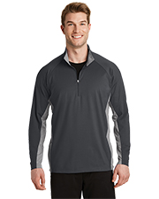 Sport-Tek® ST854 Men Sport-Wick Stretch Contrast 1/2-Zip Pullover  at GotApparel