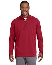Sport-Tek® ST860 Men Textured 1/4-Zip Pullover at GotApparel