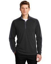 Sport-Tek® ST861 Men   Sport-Wick & Textured Colorblock 1/4-Zip Pullover at GotApparel