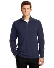 Sport-Tek® ST861 Men   Sport-Wick & Textured Colorblock 1/4-Zip Pullover at GotApparel