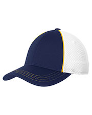 Sport-Tek® STC29 Unisex Piped Mesh Back Cap at GotApparel