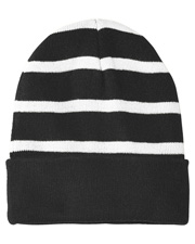 Sport-Tek® STC31 Unisex   Striped Beanie With Solid Band at GotApparel