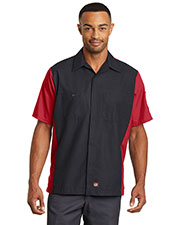 Red Kap  SY20 Men Short-Sleeve Ripstop Crew Shirt at GotApparel