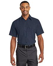 Red Kap  SY60 Men Short-Sleeve Solid Ripstop Shirt at GotApparel