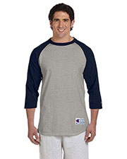 Custom Embroidered Champion T1397 Men 5.2 Oz. Raglan Baseball T-Shirt at GotApparel