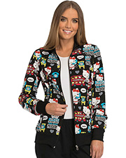 Tooniforms TF301 Women Zip Front Warm-Up Jacket  at GotApparel